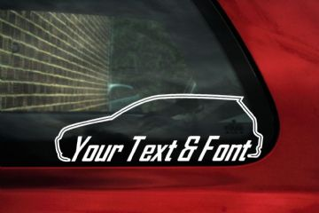 2x VW Golf Mk4 R32 / 1.8t CUSTOM TEXT stickers